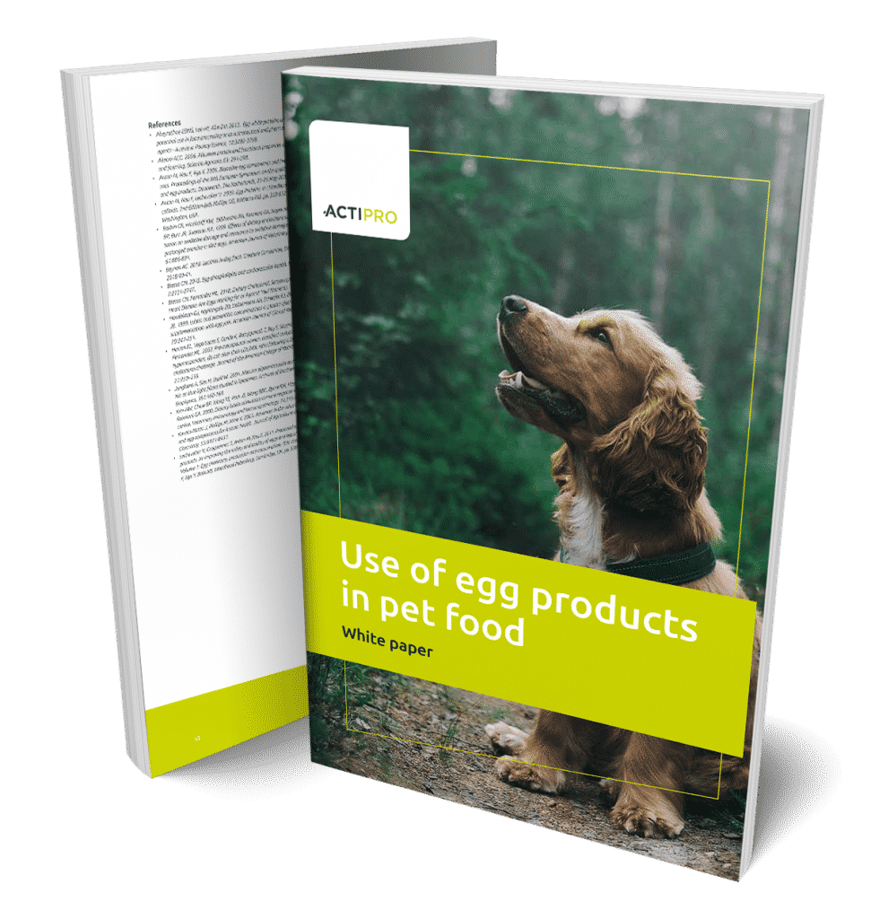 Whitepaper about use of egg products in pet food